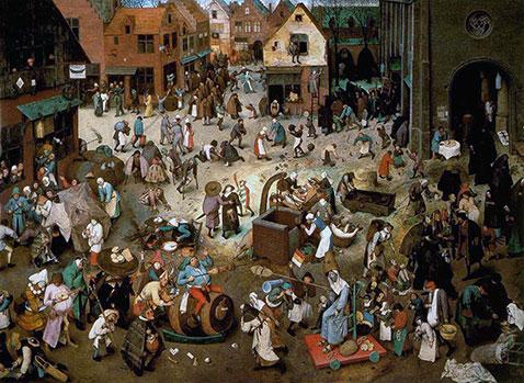 Lotta tra Carnevale e Quaresima - Pieter Brueghel Il Vecchio
