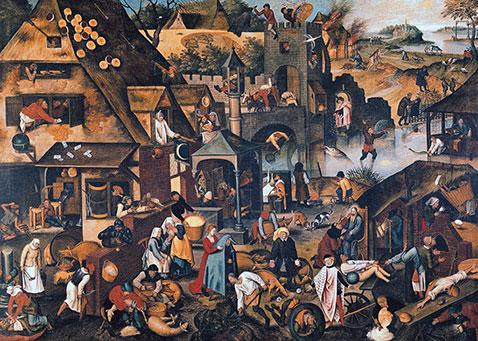 Proverbi fiamminghi  - Pieter Brueghel Il Giovane