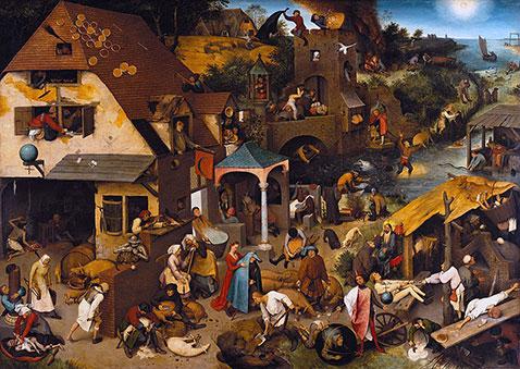 Proverbi fiamminghi - Pieter Brueghel Il Vecchio