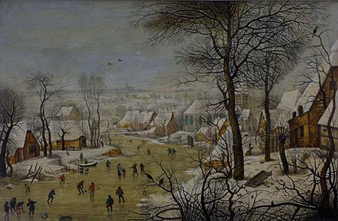 Paesaggio invernale con trappola per uccelli - Pieter Brueghel Il Giovane