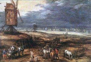Paesaggio con mulini a vento - Jan Brueghel Il Vecchio