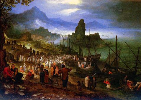 Predicazione di Cristo al porto - Jan Brueghel Il Vecchio