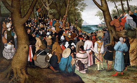 Predica di san Giovanni Battista - Pieter Brueghel Il Giovane