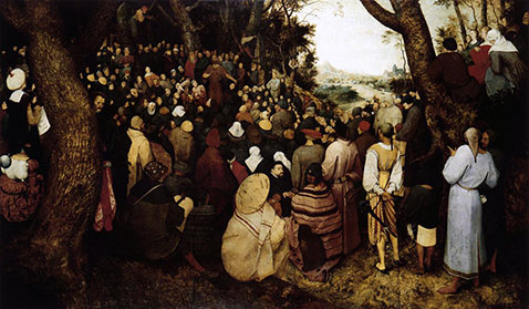 Predica di san Giovanni Battista - Pieter Brueghel Il Vecchio