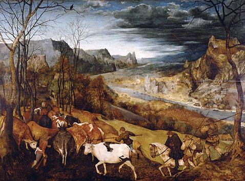 Ritorno della mandria - Pieter Brueghel Il Vecchio