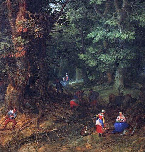 Riposo durante il viaggio in Egitto - Jan Brueghel Il Vecchio