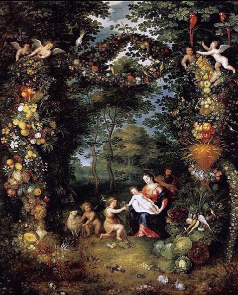 Sacra famiglia con san Giovanni - Jan Brueghel Il Giovane