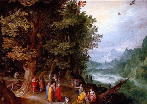 San Giovanni predica nel deserto - Jan Brueghel Il Vecchio