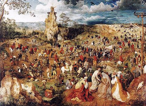 Salita al Calvario - Pieter Brueghel Il Vecchio