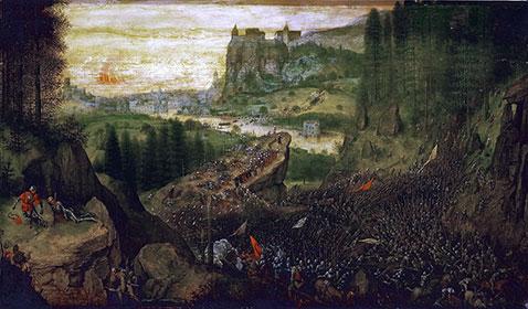 Suicidio di Saul - Pieter Brueghel Il Vecchio