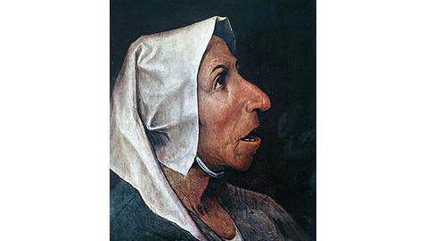 Testa di vecchia contadina - Pieter Brueghel Il Vecchio