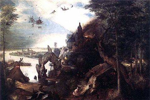 Tentazione di sant'Antonio - Pieter Brueghel Il Vecchio