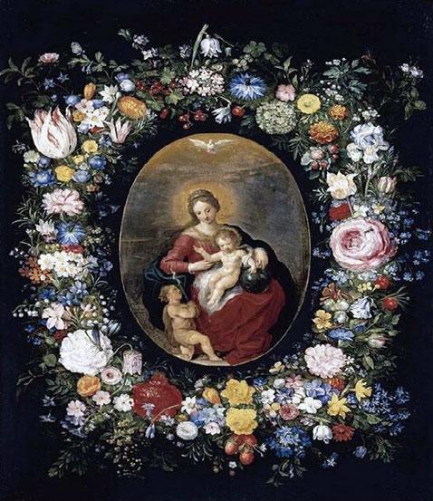 Vergine e bambino col giovane san Giovanni - Jan Brueghel Il Giovane