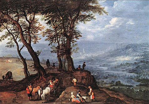 Verso il mercato - Jan Brueghel Il Vecchio