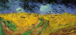 Campo di grano con volo di corvi, 1890