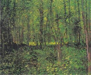 Alberi e sottobosco (Parigi, estate 1887)