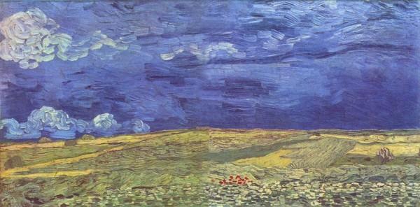 Campo di grano sotto cielo nuvoloso, 1890
