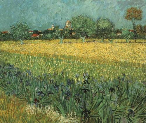 Veduta di Arles con iris, 1888