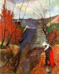 Gauguin, Donna bretone con una brocca