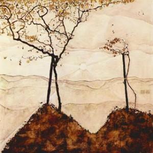 Schiele, arbres