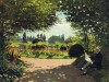 adolphe-monet-reading-in-the-garden-claude-monet-