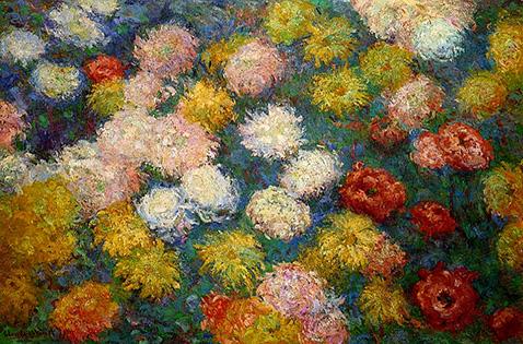 chrysanthemums-claude-monet-