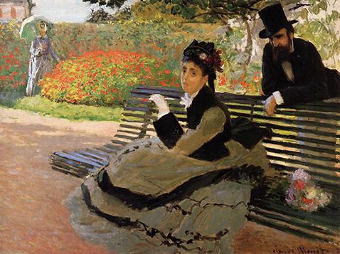 camille-monet-on-a-garden-bench-claude-monet-