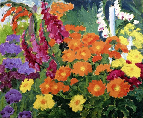 flower-garden-marigolds-emil-nolde