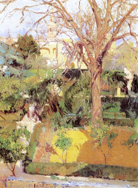 garden-of-alczar-sevilla-in-wintertime-joaquin-sorolla-