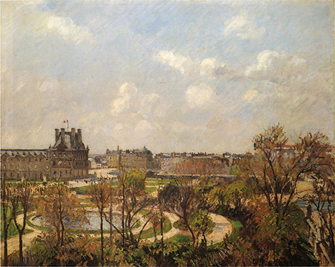 the-garden-of-the-tuileries-morning-spring-camille-pissarro