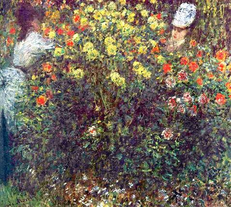 girls-in-the-garden-claude-monet-