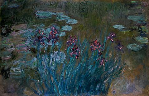 irises-and-water-lilies-claude-monet-