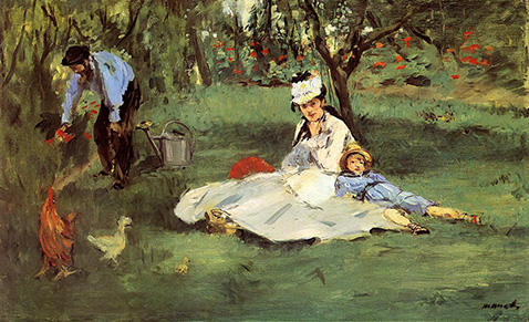 the-monet-family-in-their-garden-at-argenteuil-edouard-manet-