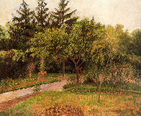 the-garden-at-eragny-camille-pissarro