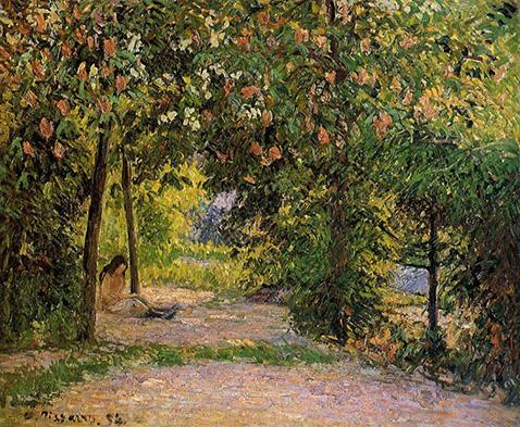 the-garden-in-spring-eragny-camille-pissarro