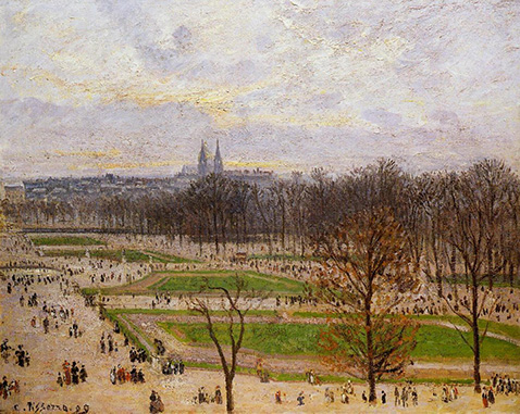 the-tuileries-gardens-winter-afternoon-camille-pissarro