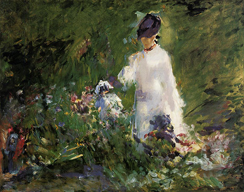 young-woman-among-the-flowers-edouard-manet-